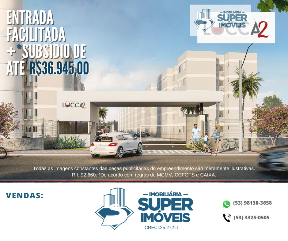 Apartamento a Venda no bairro Fragata em Pelotas - RS. 1 banheiro, 2 dormitórios, 1 vaga na garagem, 1 cozinha,  área de serviço,  sala de estar,  sal