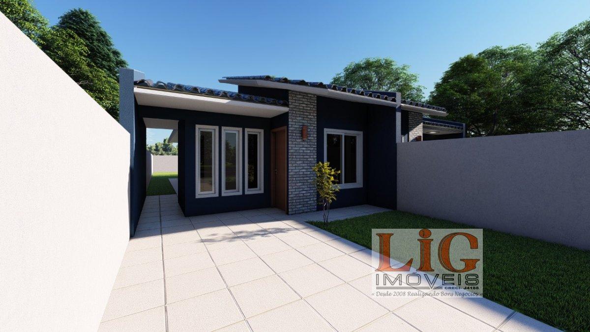 Casa a Venda no bairro Iguacu em Fazenda Rio Grande - PR. 1 banheiro, 3 dormitórios, 1 suíte, 1 vaga na garagem, 1 cozinha.  - CS-600